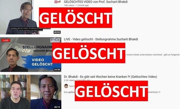 Die gelöschten Videos auf Youtube mit Professor Bhakdi