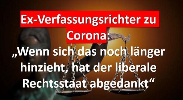 Ex Verfassungsrichter zu Corona