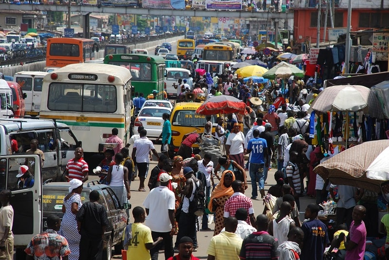 Strasse in Afrika - Ghana