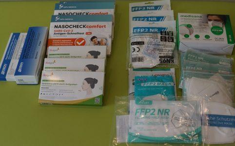Sars Cov 2 Schnelltests und FFP 2 Masken