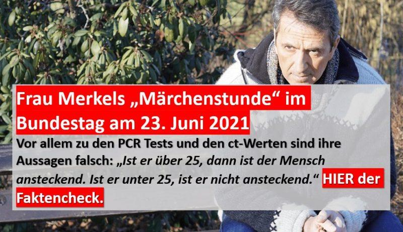 Merkel Fragestunde im Bundestag zu PCR Tests